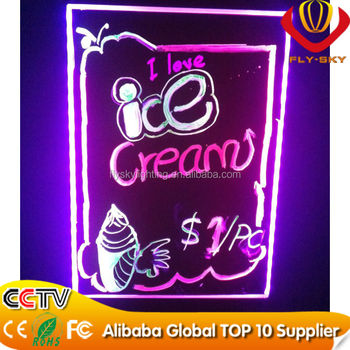 alibaba express new innovative products led indoor advertising board professional manufacturer with marker pen