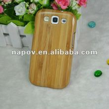 nature bamboo cell phone case for samsung galaxy s3 i9300 bamboo case