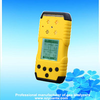 Portable 4 gaes NH3 O2 H2S CH4 multi gas leak detector
