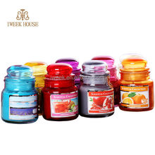 cheapest 2014,multi-color glass jar candle/100% soy wax scent candle/hottest in Christmas/