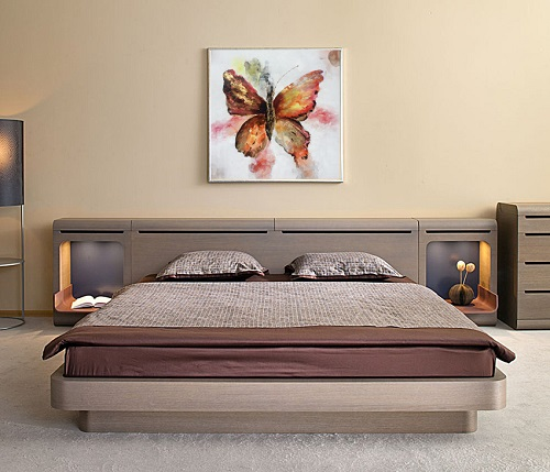 SH209 Modern Home Decoration Handmade Butterfly Flowers Canvas Oil Painting