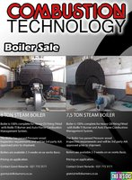 8 ton and 7.5 ton Steam Boilers for sale