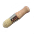 pure bristle hog bristle wax brush with beech wood