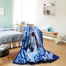 Chinese double bed korea spanish india winter signature blankets 8kg 100% polyester