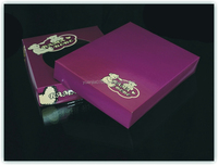 purple color paper box for baby shoes packaging