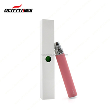 low MOQ Ocitytimes wholesale 510 battery 650mah 900mah 1100mah vaporizer pen battery for cbd oil