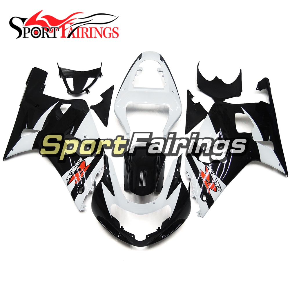 Injection Fairings For Suzuki GSXR600 GSXR750 K1 Year 00 01 02 03 ABS Plastic Complete Motorcycle Fairing Kit Black White