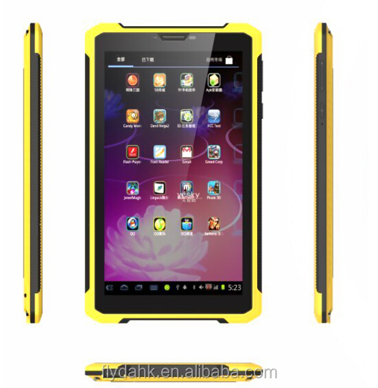 7inch rugged tablet capacitive screen mtk6572 dual core android waterproof rugged tablet K8000