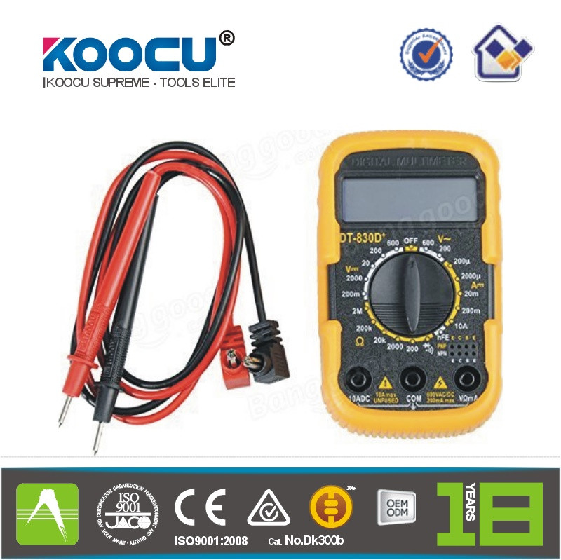 KOOCU DT-830D+ Portable 2 inch Mini Digital Multimeter With Battery