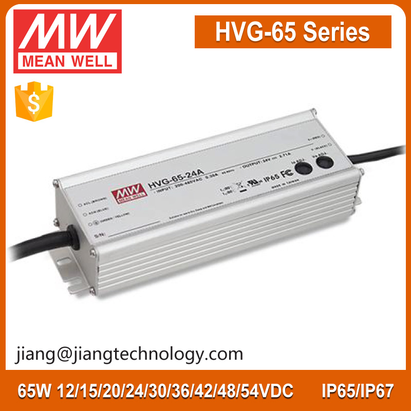 60 Watt 54V 1.21A HVG-65-54D IP67 Meanwell Universal LED Transformers Electric