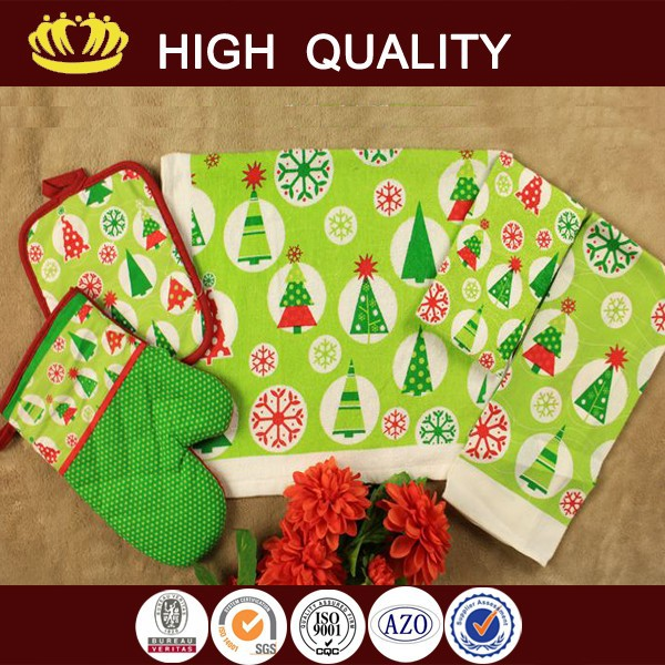 christmas snowman kitchen towel gift set