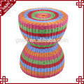 S&D Top sales colorful plastic stool bar stool rattan storage stool