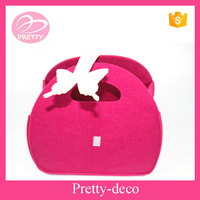 Main Products !!2015 Newest style die cut shapes ladies felt bag