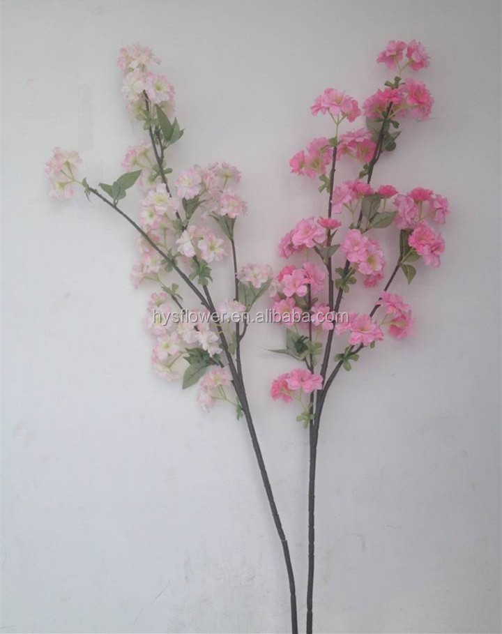 Silk artificial cherry blossom tree, fabric artificial plant for christmas