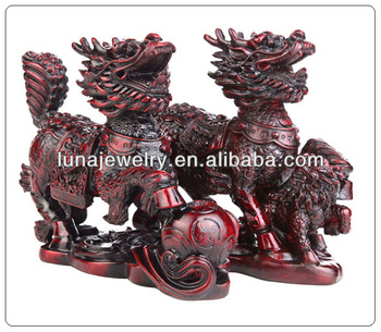 Pair of Chinese Dragon Horses, CHI LIN