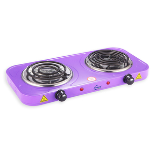 Double electric coil stove in home appliances