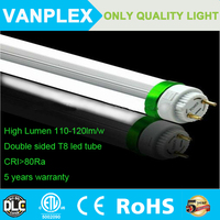 Double sided t8 8ft 36w led tube light advertising with ROHS DLC CERTIFICATION