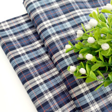 yarn dyed tartan plaid 100% cotton poplin clothes fabric for dress