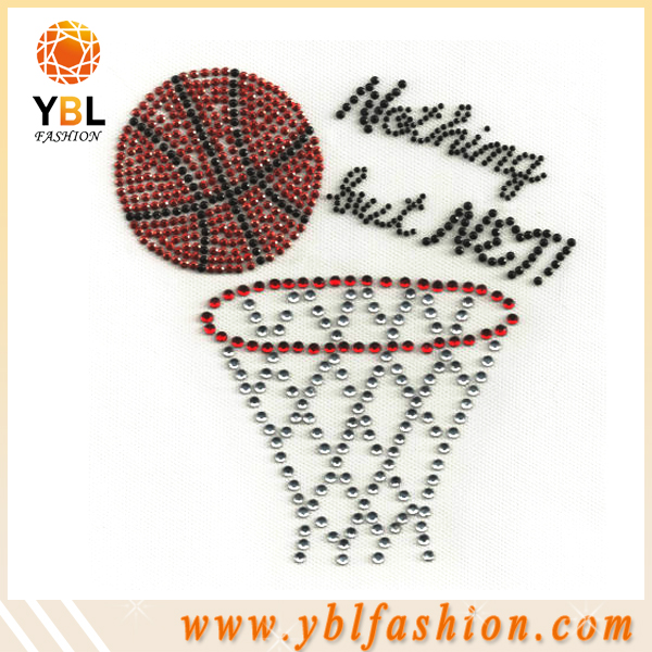 Wholesale iron on fabric labels transfers basketball