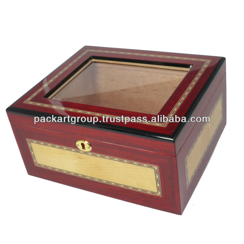 High Gloss Red Wholesale Cigar Boxes