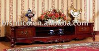 graceful antique french style solid wood sideboard B46104