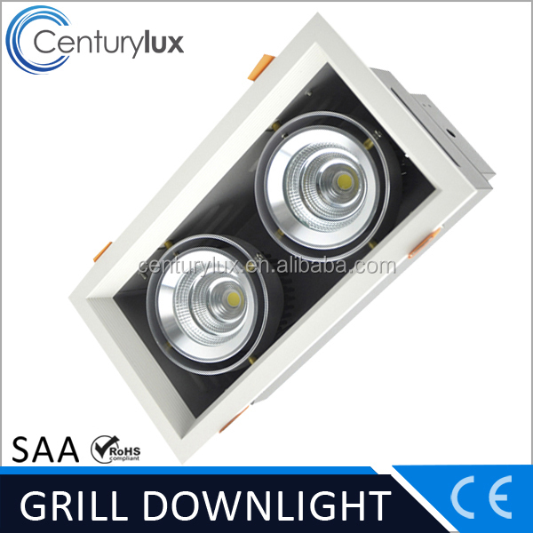 Shenzhen LED factory wholesale LED grid down light 2*25W 4500Lm