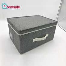 Home Environmental Thickening Non-woven Storage Box Folding Save Space Clothes Toys Cube Container Storage Box With Lid
