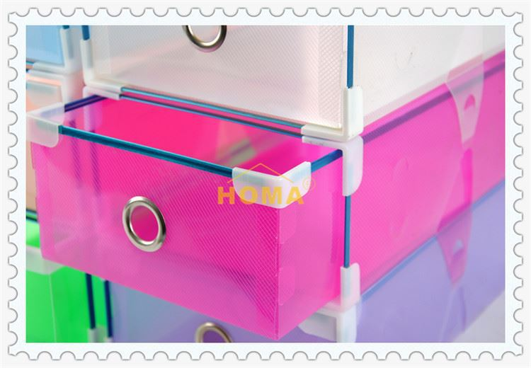 2017 transparent clear shoe box for packing