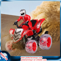 new electric stunt car with LED & music,9 functions beach rc motorcycle sale GW-T666-MT01