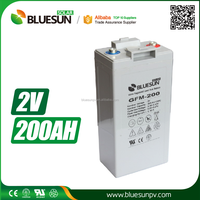 Bluesun high quality deep cycle 2v 200 amp hour battery