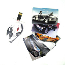 Paypal accept , Promotional business card usb,double side full color logo wafer usb cards 2GB, flash memory cards