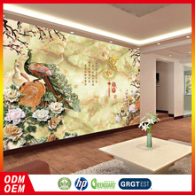 Chinese style peacock Relief effect 3d wallpaper wall for interior