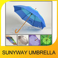 Custom Color Design Hand Open Wooden Umbrella