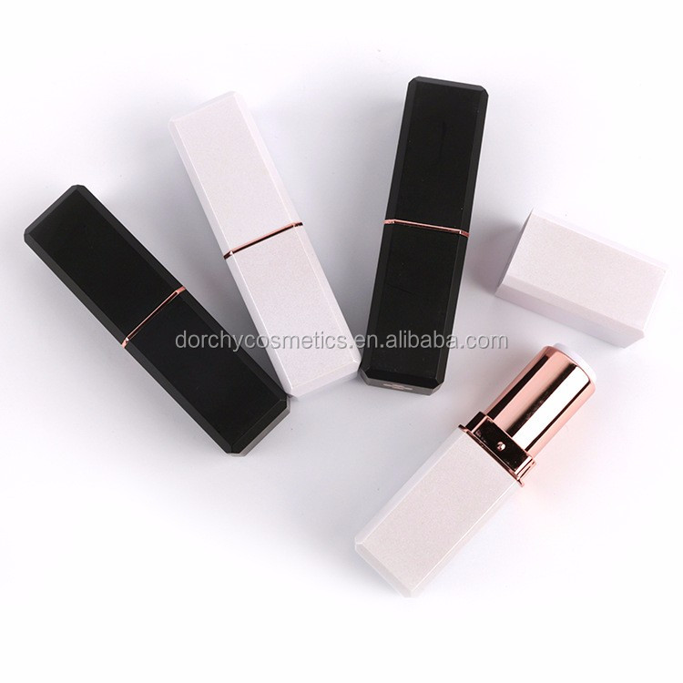 2017 New White/Black empty plastic lipstick container