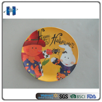 Wholesale holiday round melamine Halloween plate