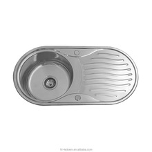Customized Stainless Steel Single Bowl Reversible Round Inset Kitchen Sink