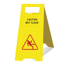 small upright high quality wet floor warning signs