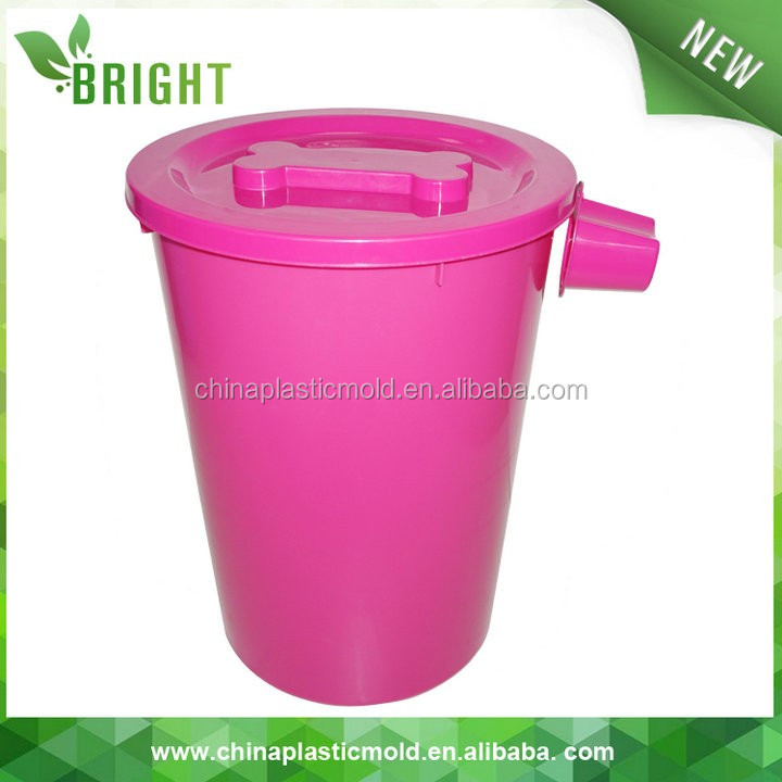 35L 15kgs plastic logo printing pet feed barrel