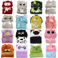 wholesale animal baby robe hooded baby bathrobe