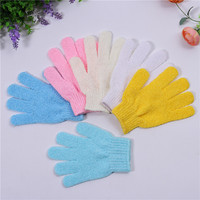 Promotional lower price nylon bath gloves