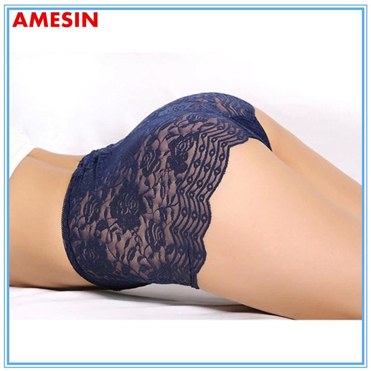 Sexy Hot Transparent High Waist Mature Women underwear Old Fashion