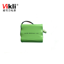 3.6V rechargeable AA nimh battery pack 2200mah