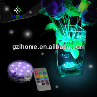Battery operated remote controlled led swimming pool lighting decoration light