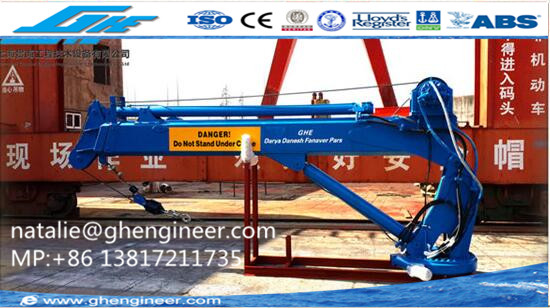 Marine Cranes for deck of boat, ship, vessel for sale marine lifting crane for sale