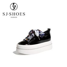 SS1509 good quality china brand new design ladies leather flat shoes with beautiful shoelaces