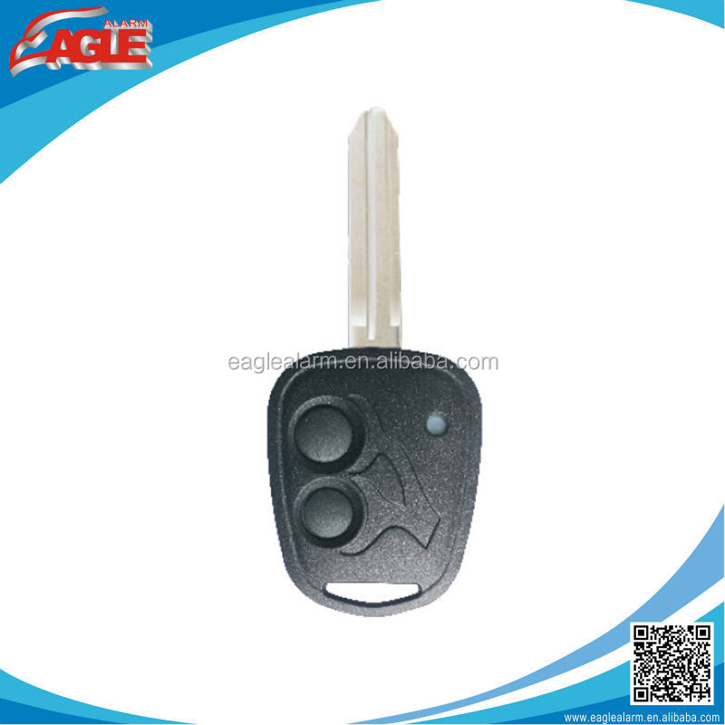 Original remote case 2 buttons remote key blank with blue or red light