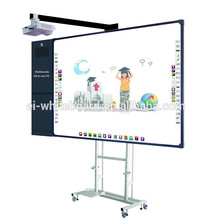 Multitouch portable smart board with mobile stand