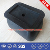 Black adjustable square silicone rubber bumper&rubber feet