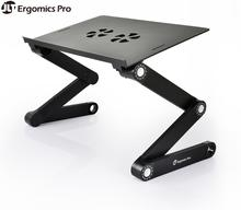 Portable Laptop Table Foldable Computer Desk with Adjustable Angle & Height