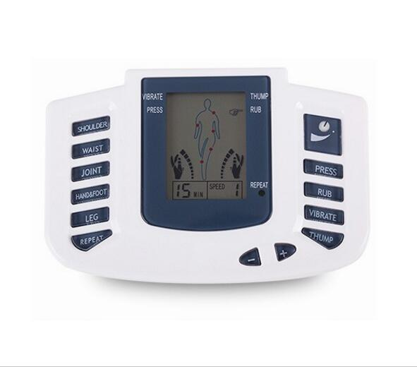 electronic pulse massager With 4 Electrode Pads and foot therapy